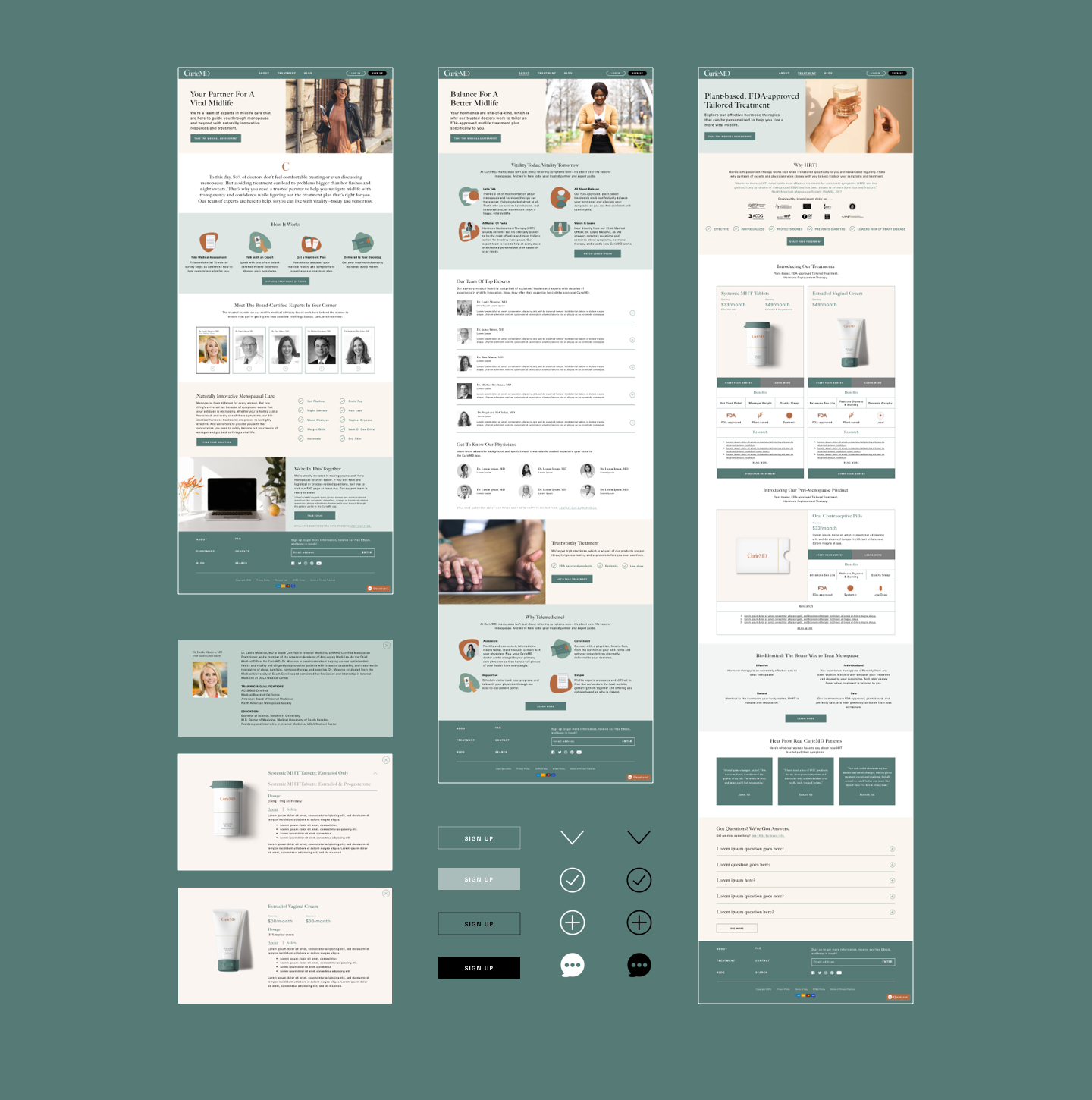 CurieMD web design
